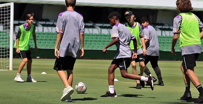 Perth Glory SEDA College Students playing soccer sports school