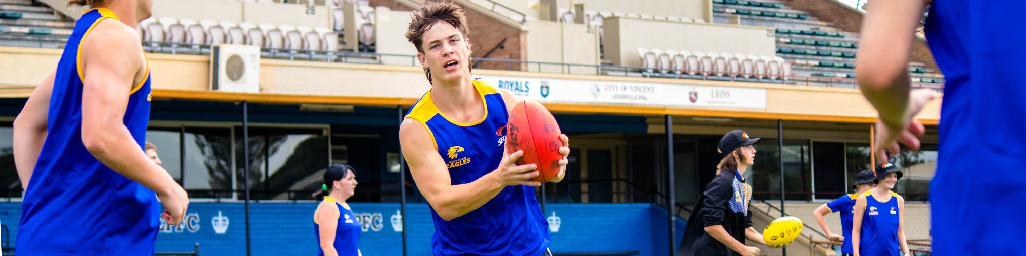 West Coast Eagles student playing footy SEDA College WA